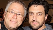 Leap of Faith composer Alan Menken gets close to his leading man Raúl Esparza.