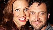 Raúl Esparza and Jessica Phillips pose cheek to cheek at this meet and greet.