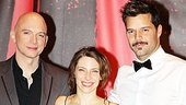 "Evita stars Michael Cerveris, Elena Roger and Ricky Martin feel ""rainbow high"" after their first Broadway preview."