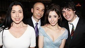 Once opening night  Cristin Milioti and family
