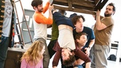 Peter and the Starcatcher Rehearsal  Adam Chanler-Berat Box Toss