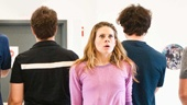 Peter and the Starcatcher Rehearsal - Celia Keenan-Bolger  The Boys backs