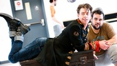 Peter and the Starcatcher Rehearsal  Christian Borle  Greg Hildreth