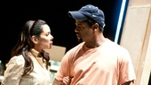 As Stella, Rubin-Vega pleads with Blair Underwood (Stanley) to treat the fragile Blanche kindly.