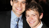 Co-stars Jeremy Jordan and Andrew Keenan-Bolger share a laugh at the after party.