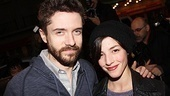 Co-stars Topher Grace and Olivia Thirlby take a break from rehearsing for Lonely, Im Not at Second Stage to take in The Best Man.