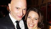 The Perons, Michael Cerveris and Elena Roger, share a smile on opening night.