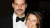 The show's stars Ricky Martin and Elena Roger look picture perfect at the opening.