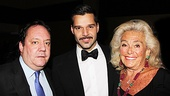 Ricky Martin is sandwiched between producers Jimmy Nederlander and Terry Allen Kramer. 