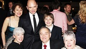 Evita star Michael Cerveris celebrates his ninth Broadway opening with his family.