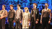 The stars of Peter and the Starcatcher take their opening night bows.