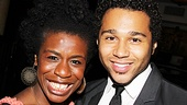 Uzo Aduba is all smiles as Corbin Bleu celebrates becoming part of the Godspell family.