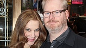 One Man, Two Guvnors opening night  Jim Gaffigan and wife 