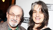 Clybourne Park Opening Night  Salman Rushdie  Pam MacKinnon 