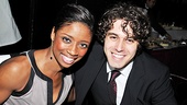 Memphis star Montego Glover enjoys the party with Jesus Christ Superstar star Josh Young.
