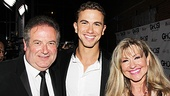 Richard Fleeshman shares the excitement of his Broadway debut with proud parents David Fleeshman and Sue Jenkins.