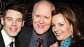 John Lithgow shares intimate moments with his Columnist co-stars Brian J. Smith and Margaret Colin, on and off the stage.