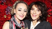 Tracie Bennett raises her glass to celebrity guest Andrea Martin in The Rainbow Room.