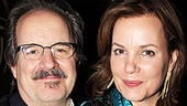 Actor John Pankow congratulates leading lady Margaret Colin.