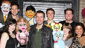Perez Hilton congratulates the cast of Avenue Q on their hilarious performance.