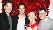 Tom Pelphrey (l.) and Tracie Bennett flank Benedict Cumberbatch and Steven Moffat (r.), who created Bennetts UK sitcom Joking Apart as well as the BBC drama Sherlock, with Cumberbatch  as Sherlock Holmes.