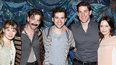 Blunt Krasinski at Starcatcher  Celia Keenan-Bolger  Christian Borle  Adam Chanler-Berat  John Krasinski  Emily Blunt