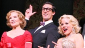 Deborah Rush as Mrs. Ella Spofford, Aaron Lazar as Henry Spofford, Megan Hilty as Lorelei Lee, Clarke Thorell as Gus Esmond, Jr., Rachel York as Dorothy Shaw and Stephen R. Buntrock as Josephus Gage in Gentlemen Prefer Blondes.