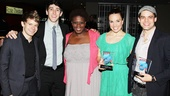 It's the gang from Newsies! Andrew Keenan-Bolger, Ben Fankhauser, Capathia Jenkins, Kara Lindsay and Jeremy Jordan came out to celebrate their show's big win.