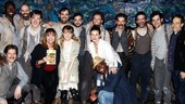 Say cheese! The entire cast of Peter and the Starcatcher gather round their newest devotees: Valerie Harper, Idina Menzel, Taye Diggs and Tony-winning lyricist Steven Sater (far right). Join the famous fans by seeing the lively show yourself!