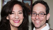 Old Jews Telling Jokes understudies Suzanne Grodner and Garth Kravits join in on the celebration at Ben's Deli.