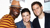 Broadway couple Taye Diggs and Idina Menzel couldn&#39;t ask for a better companion than Steven Pasquale for a trip to Clybourne Park. 