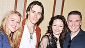 Newcomer Katrina Lenk basks in the support of new co-stars Rebecca Faulkenberry, Reeve Carney and Patrick Page on her big night!