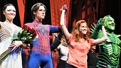 Reeve Carney, Rebecca Faulkenberry and Patrick Page officially welcome Katrina Lenk as Spider-Man's newest web weaver.