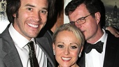 End of the Rainbow's Tom Pelphrey congratulates his Tony-nominated co-stars Tracie Bennett and Michael Cumpsty.