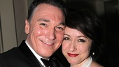 Cute couple Patrick Page (Spider-Man) and Paige Davis enjoy the festivities.