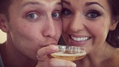 Cheers! Laura Osnes stays bubbly on Tony night with some champagne and the company of her husband, Nathan Johnson.