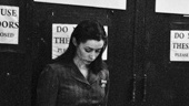 Cristin Milioti takes a deep breath as she waits to make her entrance through the house of the Jacobs Theatre. Break a leg, everyone! 