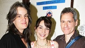 In a bittersweet moment, director Pam MacKinnon and playwright Bruce Norris take a final post-show photo with Annie Parisse, who has been with Clybourne since its off-Broadway days.