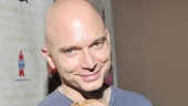 Evita's Michael Cerveris looks lovely with this little guy named Lovey.