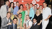 The entire Dogfight company gets together for a family photo with the show's creators and Second Stage's supportive artistic director Carole Rothman.