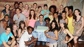 Ghost Celebrates 100 Broadway Shows  the cast of Ghost