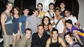 The young cast of Broadway&#39;s Newsies shows support for choreographer Christopher Gattelli&#39;s other musical, Silence!.