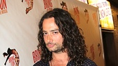 Broadway vet Constantine Maroulis and star of the upcoming Broadway production of Jekyll  &amp; Hyde, gets into the spirit outside of the St. James Theatre. 