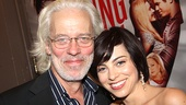 Terrence Mann enjoys an Addams Family reunion with Krysta Rodriguez.