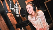 Newcomer Taylor Louderman can't believe she is in the studio for her first-ever original Broadway cast recording.