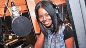 Bring It On star Adrienne Warren gets set to lend her voice to the show's album.