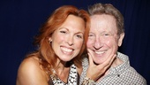 Carolee Carmello grabs a handful of George Hearn, who plays her character's father as well as her preacher adversary.