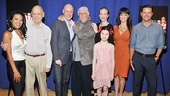 Meet the stars and creators of Broadway's Annie: J. Elaine Marcos (Lily St. Regis), composer Charles Strouse, Anthony Warlow (Daddy Warbucks), lyricist Martin Charnin, Katie Finneran (Miss Hannigan), Lilla Crawford (Annie), Brynn O'Malley (Grace Farrell) and Clarke Thorell (Rooster).