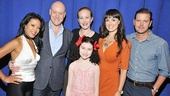 Lilla Crawford is surrounded by J. Elaine Marcos, Anthony Warlow, Katie Finneran, Brynn OMalley and Clarke Thorell.