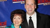 Soap opera diva Robin Strasser (One Life to Live) and NEWSical producer Tom D'Angora toast Perez Hilton's opening night.